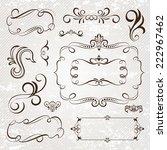 vintage frames and scroll...   Shutterstock .eps vector #222967462