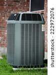 Modern air conditioner close up - stock photo
