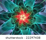 Abstract Multicolored Flower...