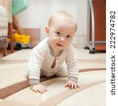 six month old baby crawling on... | Shutterstock . vector #222974782