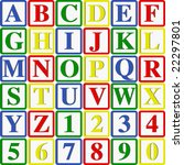 baby blocks letters and numbers ...