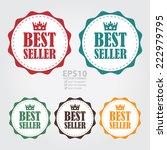 vector   colorful vintage best... | Shutterstock .eps vector #222979795