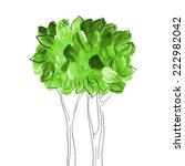 acrylic green tree. eco... | Shutterstock .eps vector #222982042