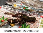 View Of Lobster At A Fish Market
