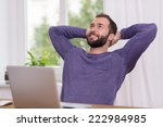 relaxed successful bearded man... | Shutterstock . vector #222984985