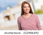 portrait of a beautiful woman... | Shutterstock . vector #222986392