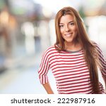 portrait of a beautiful young... | Shutterstock . vector #222987916
