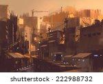 old sci fi building digital... | Shutterstock . vector #222988732