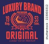 vintage typography  luxury... | Shutterstock .eps vector #223003312