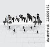 social network concept   people ... | Shutterstock .eps vector #223009192