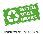 recycle reuse reduce green... | Shutterstock . vector #223013926