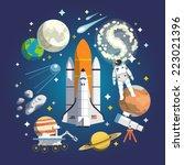 Astronomy Icon Set. Vector...