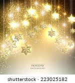 christmas  background with... | Shutterstock .eps vector #223025182