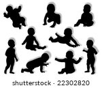 baby silhouette in different... | Shutterstock . vector #22302820