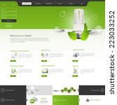 green eco website layout...