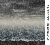 Abstract Rainy Landscape...