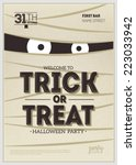 vector halloween party poster.... | Shutterstock .eps vector #223033942