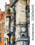 the prague astronomical clock ... | Shutterstock . vector #223036342