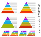 colorful triangle  pyramid... | Shutterstock .eps vector #223039048