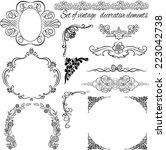 set of  vintage decorative... | Shutterstock . vector #223042738