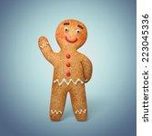 traditional gingerbread man... | Shutterstock . vector #223045336
