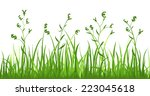 financial growth fresh grass... | Shutterstock .eps vector #223045618