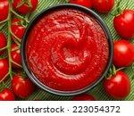 Bowl Of Ketchup Or Tomato Sauce ...