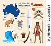 travel concept australia... | Shutterstock .eps vector #223055695