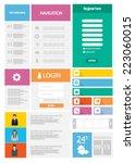 flat web user interface set....
