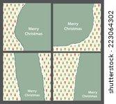 vector christmas teared paper.... | Shutterstock .eps vector #223064302