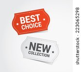 discount color vector labels | Shutterstock .eps vector #223065298