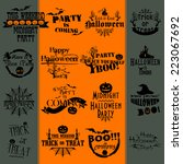 halloween banners | Shutterstock .eps vector #223067692