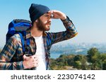 in search of new horizons.... | Shutterstock . vector #223074142