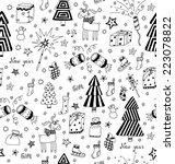 christmas decoration seamless... | Shutterstock .eps vector #223078822