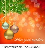 christmas background | Shutterstock .eps vector #223085668