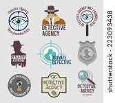 police private detective agency ... | Shutterstock .eps vector #223093438