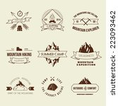 camping mountain adventure... | Shutterstock .eps vector #223093462