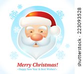 merry christmas card with santa ... | Shutterstock .eps vector #223093528