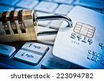 security lock on credit cards... | Shutterstock . vector #223094782
