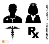 silhouette vector medical icon... | Shutterstock .eps vector #223097686
