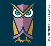 owl vector | Shutterstock .eps vector #223113472