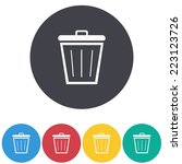 bin icon | Shutterstock .eps vector #223123726