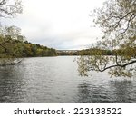 STOCKHOLM - OCT 13 - The lake Trekanten in Liljeholmen during a autumn morning. Stockholm, october 13, 2014 - stock photo