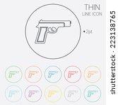 gun sign icon. firearms weapon... | Shutterstock .eps vector #223138765