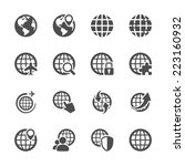 global communication icon set ... | Shutterstock .eps vector #223160932