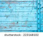 boards painted with blue paint... | Shutterstock . vector #223168102