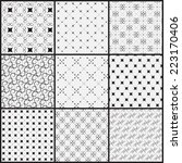 9 different seamless patterns.  ... | Shutterstock .eps vector #223170406