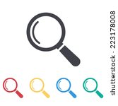 magnify icon | Shutterstock .eps vector #223178008