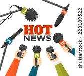 journalism concept vector... | Shutterstock .eps vector #223189522