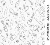 woman accessories seamless... | Shutterstock .eps vector #223190716